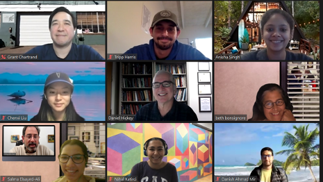 One of the Virtual Meetings of the Reading Group