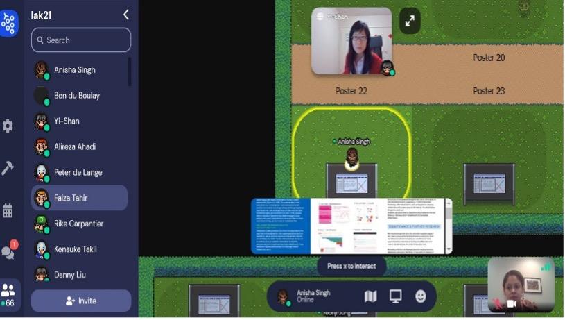 Figure 3 - Virtual Poster Presentation at LAK